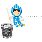 Onde foi parar a lixeira no Lightning?